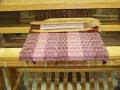 Bamboo shawl on loom