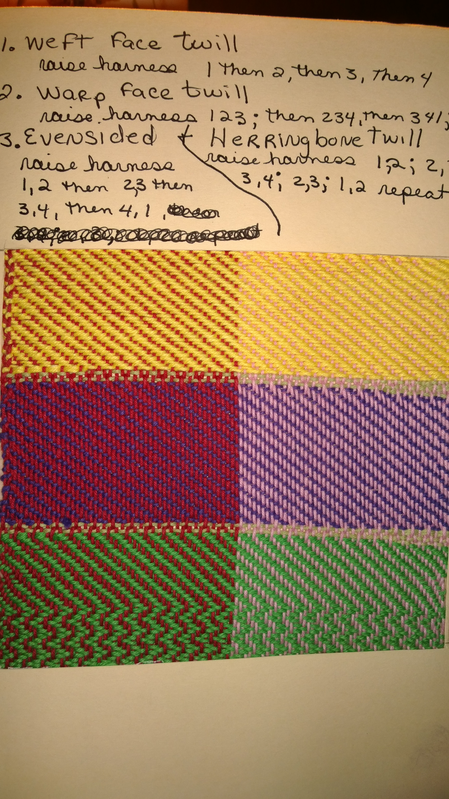 Weft & Warp Face Twill-Samples