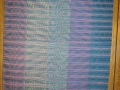 Twill Gamp weft face with space dyed yarn