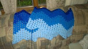 UK Blanket in Blue   Designs by Suzie